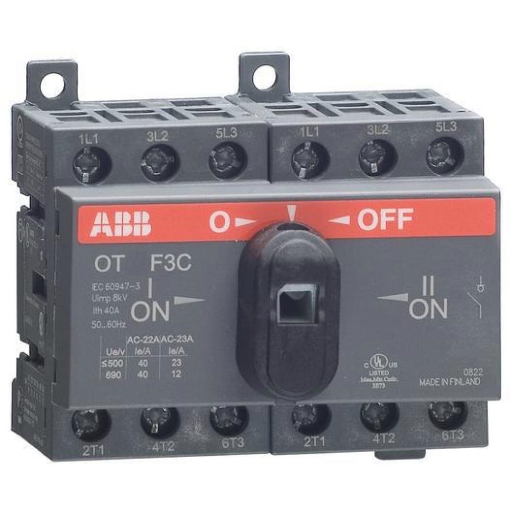 Реверсивный рубильник abb ot40 f3c 40a 1sca104913r1001