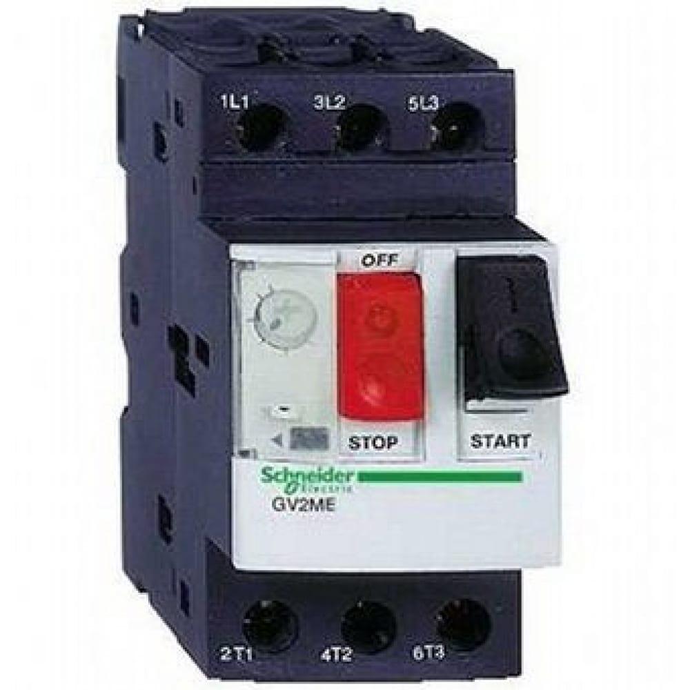 Автоматический выключатель защиты двигателя me05 0.63-1а schneider electric gv2me05