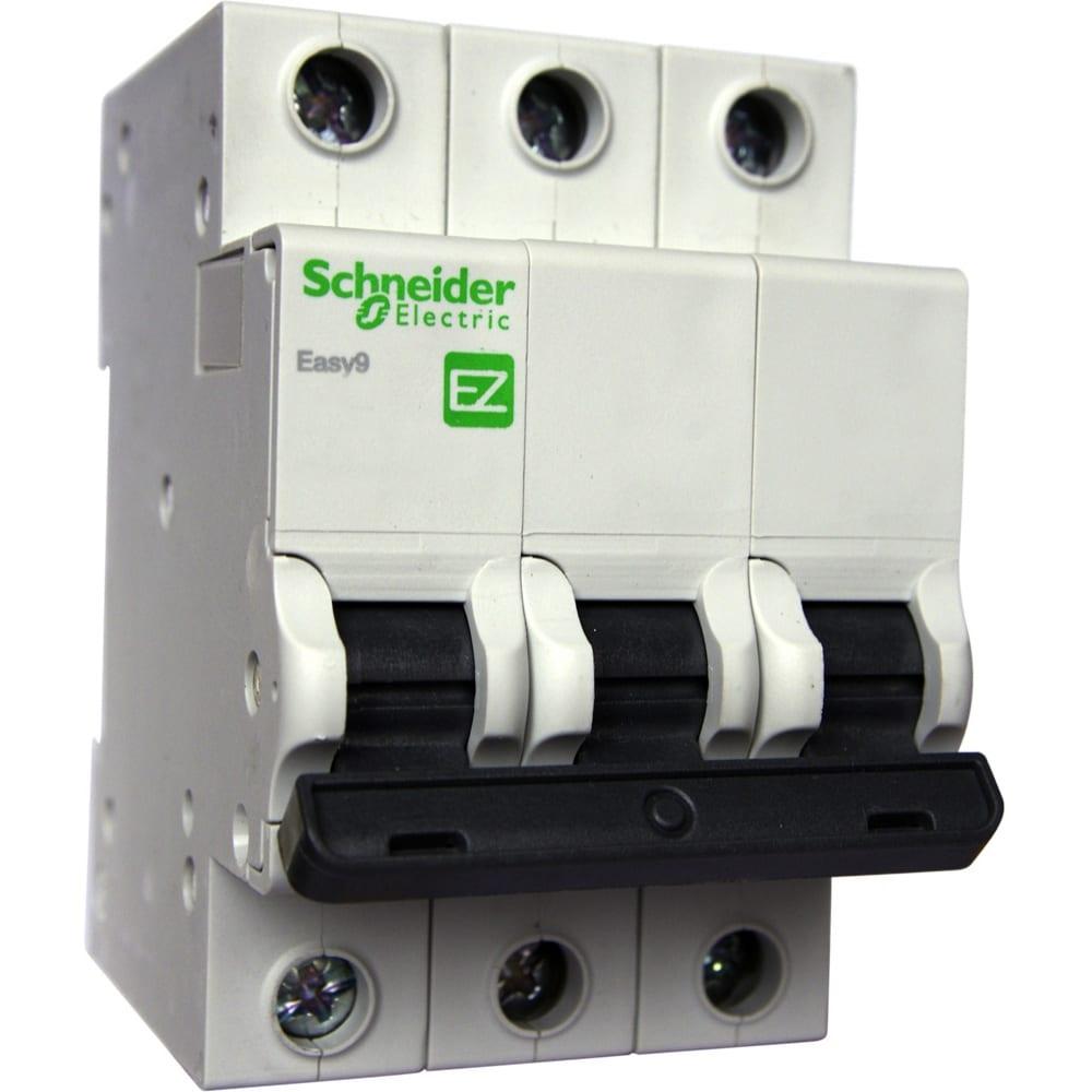 Купить Автоматический модульный выключатель easy 9 3п c 20а 4.5ка schneider electric ez9f34320