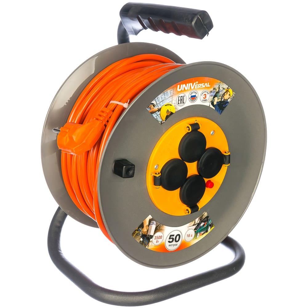 Силовой удлинитель universal вем-250 ip-44 термо пвс 3*1,5 50м 9634176