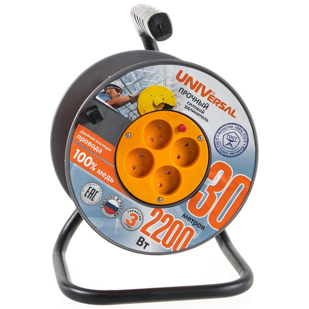 Силовой удлинитель universal вем-250 термо пвс 2*1 30м 9632898