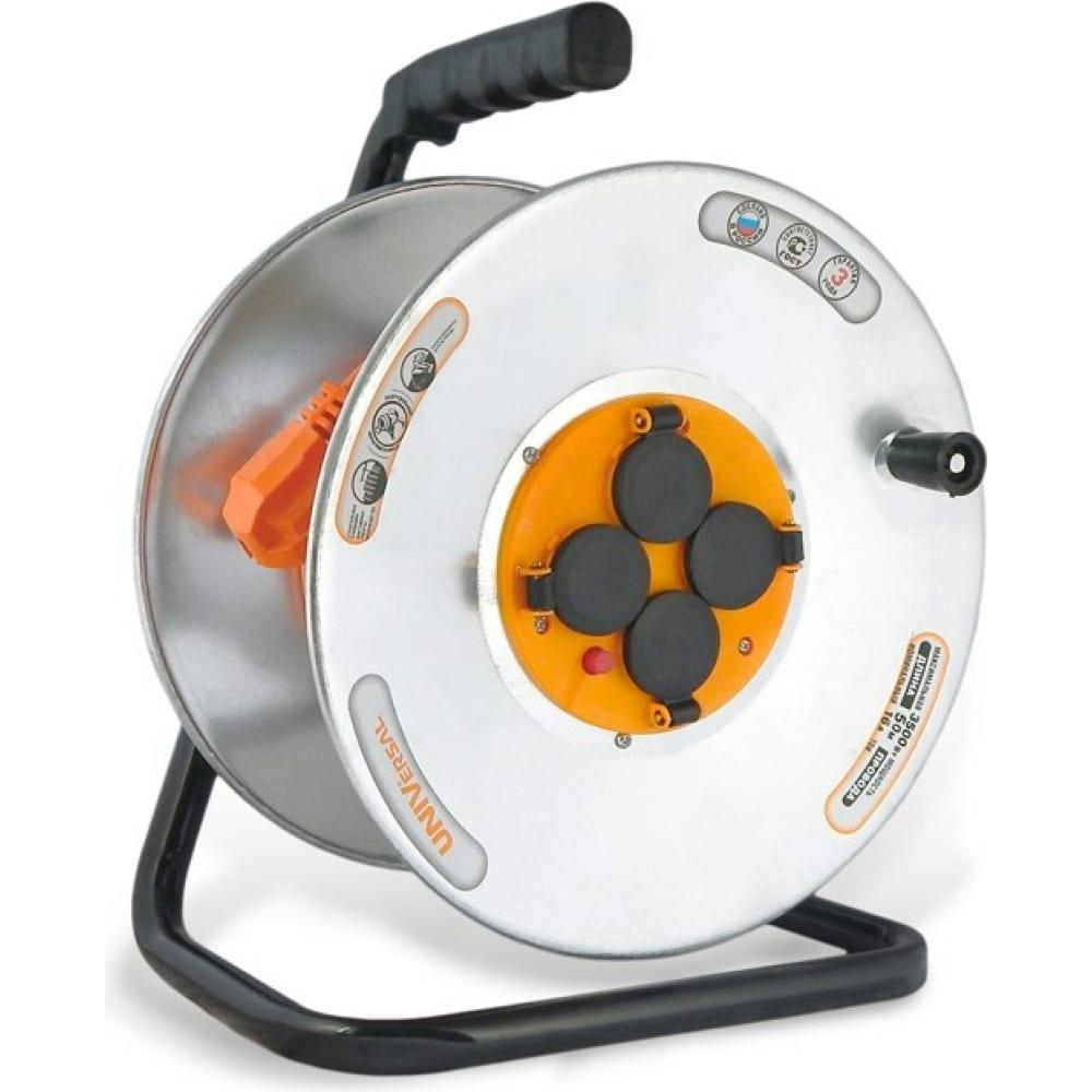 Силовой удлинитель ip-44 термо пвс 3*1,5 50м universal у16-041 9633072