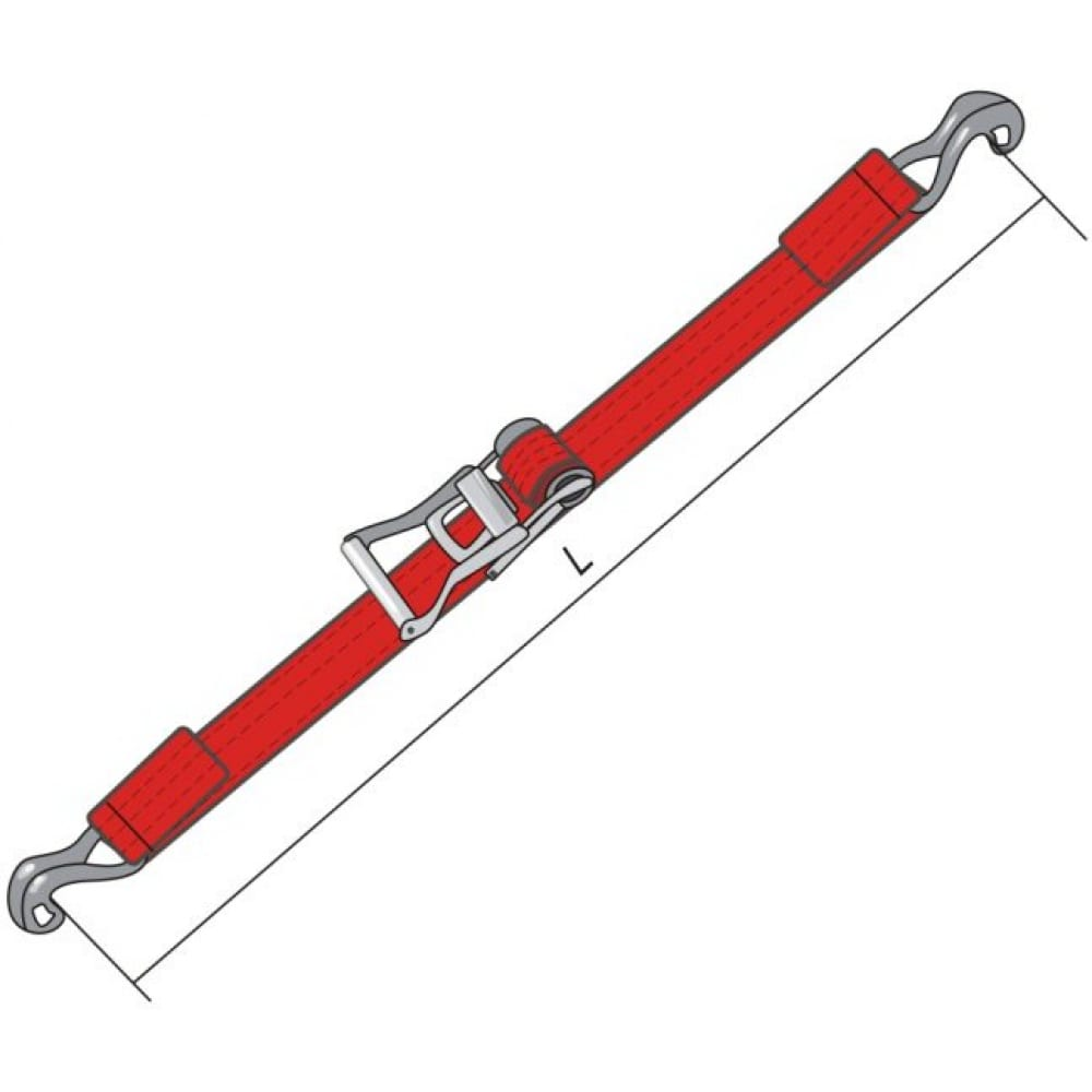 Ремень для крепления груза с крюками кантаплюс рэтчет 35 мм/6.0м фото