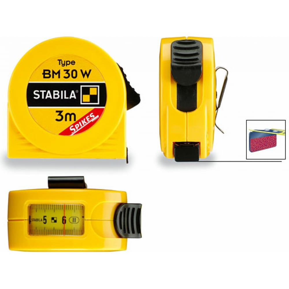Рулетка stabila тип bm 30 w sp 3м х 16мм с окошком 16456