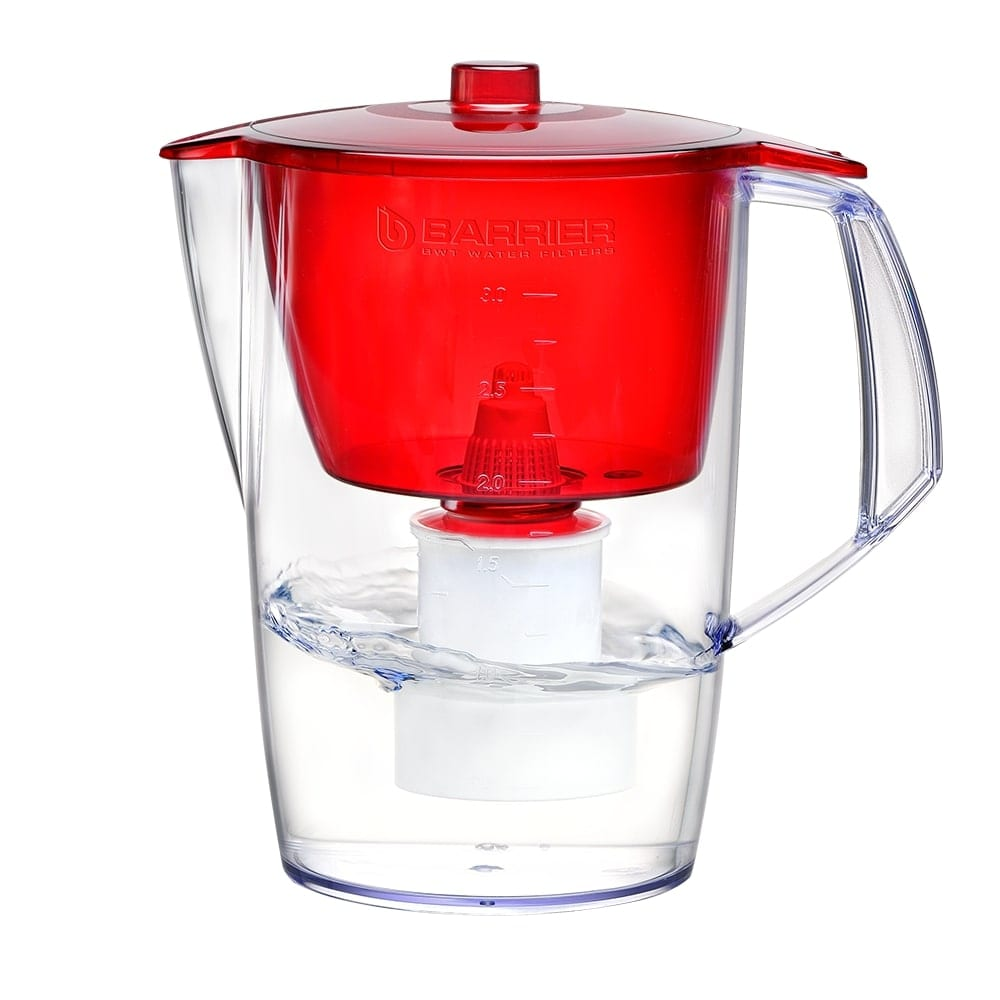 Кувшин-фильтр барьер лайт красный в063р51