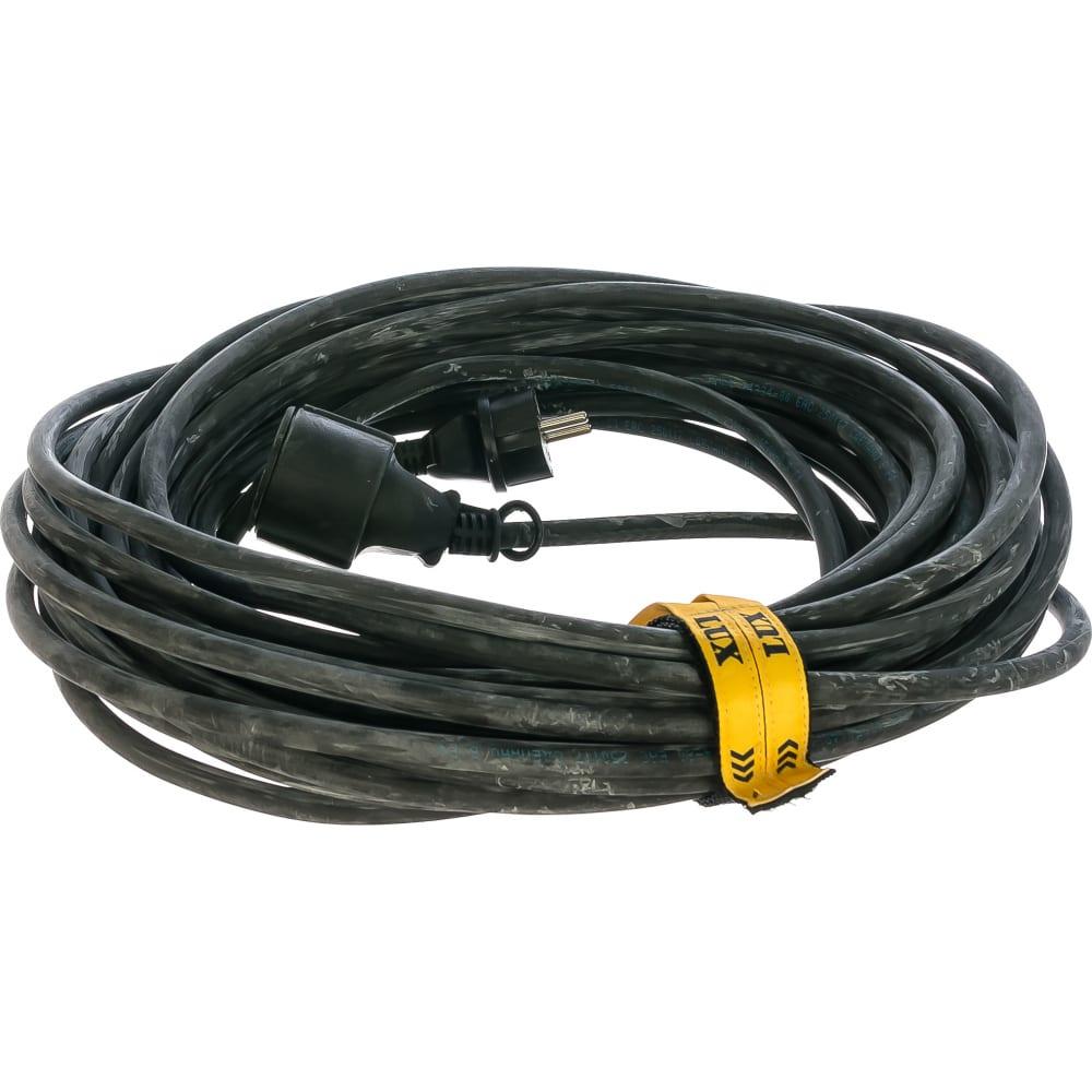 Силовой удлинитель ус1-е-20 у-161 кг 3x2.5 20м, 16а с заземлением lux 30020 4606400419211