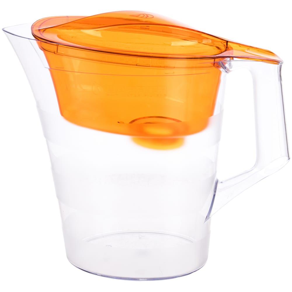 Фильтр-кувшин для очистки воды барьер твист 4 л, цвет оранжевый