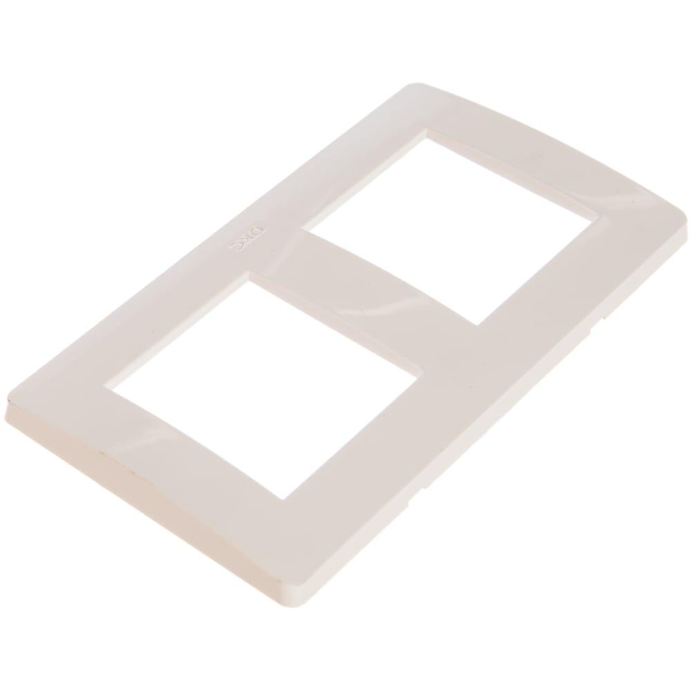 Двойная вертикальная рамка, белая, dkc ral9010 75012w  - купить со скидкой