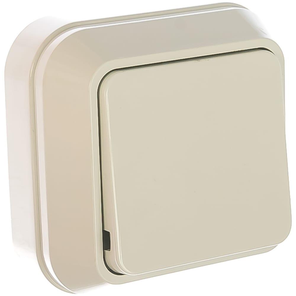 Купить Выключатель накладной одноклавишный, белый makel siva ustu 45101