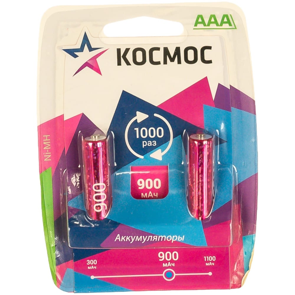 Купить Аккумуляторные батареи космос r03 ni-mn 900мач 127198