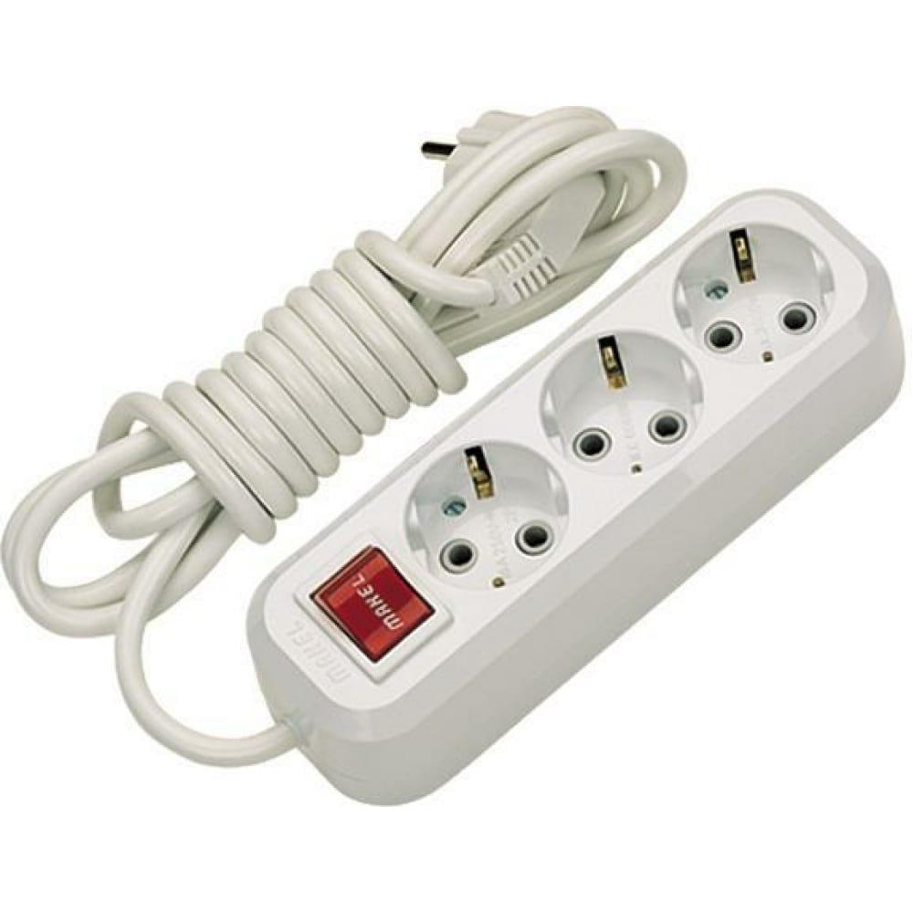 Купить Удлинитель с выключателем 3х3 м makel mgp 213