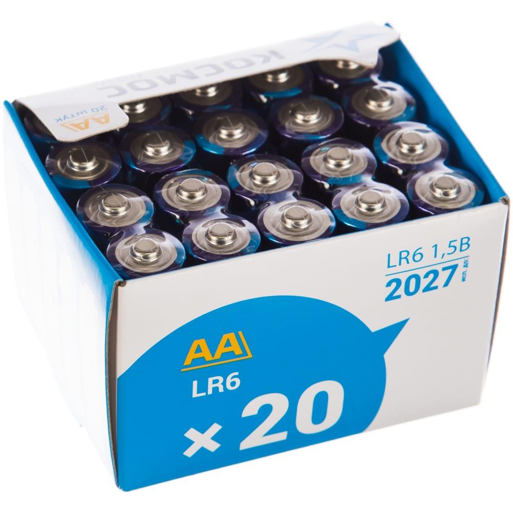 Батарейки космос aa 20шт lr6 koclr620box