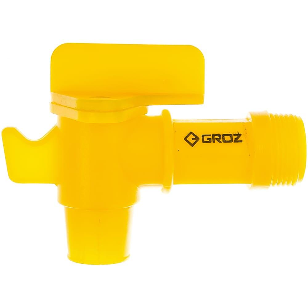Пластиковый кран на бочку groz fau/34 gr44387