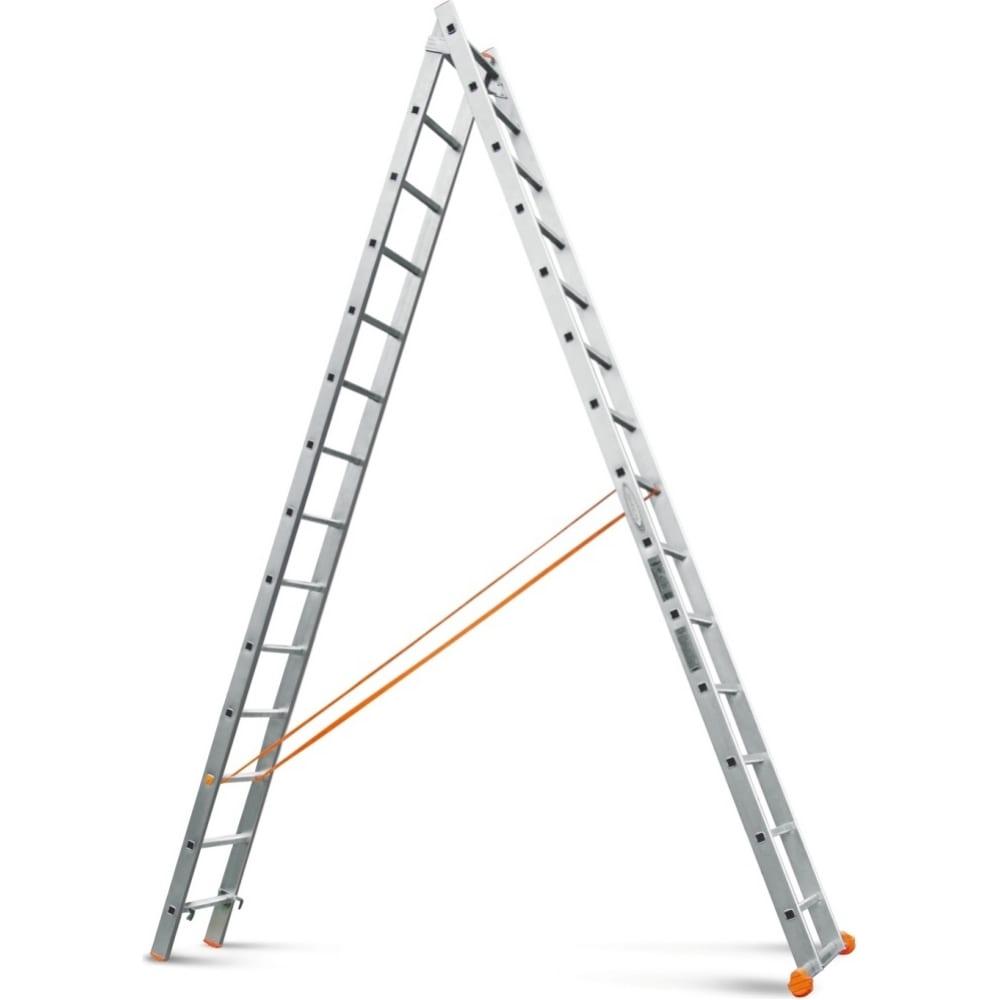 Двухсекционная лестница эйфель классик 2х14