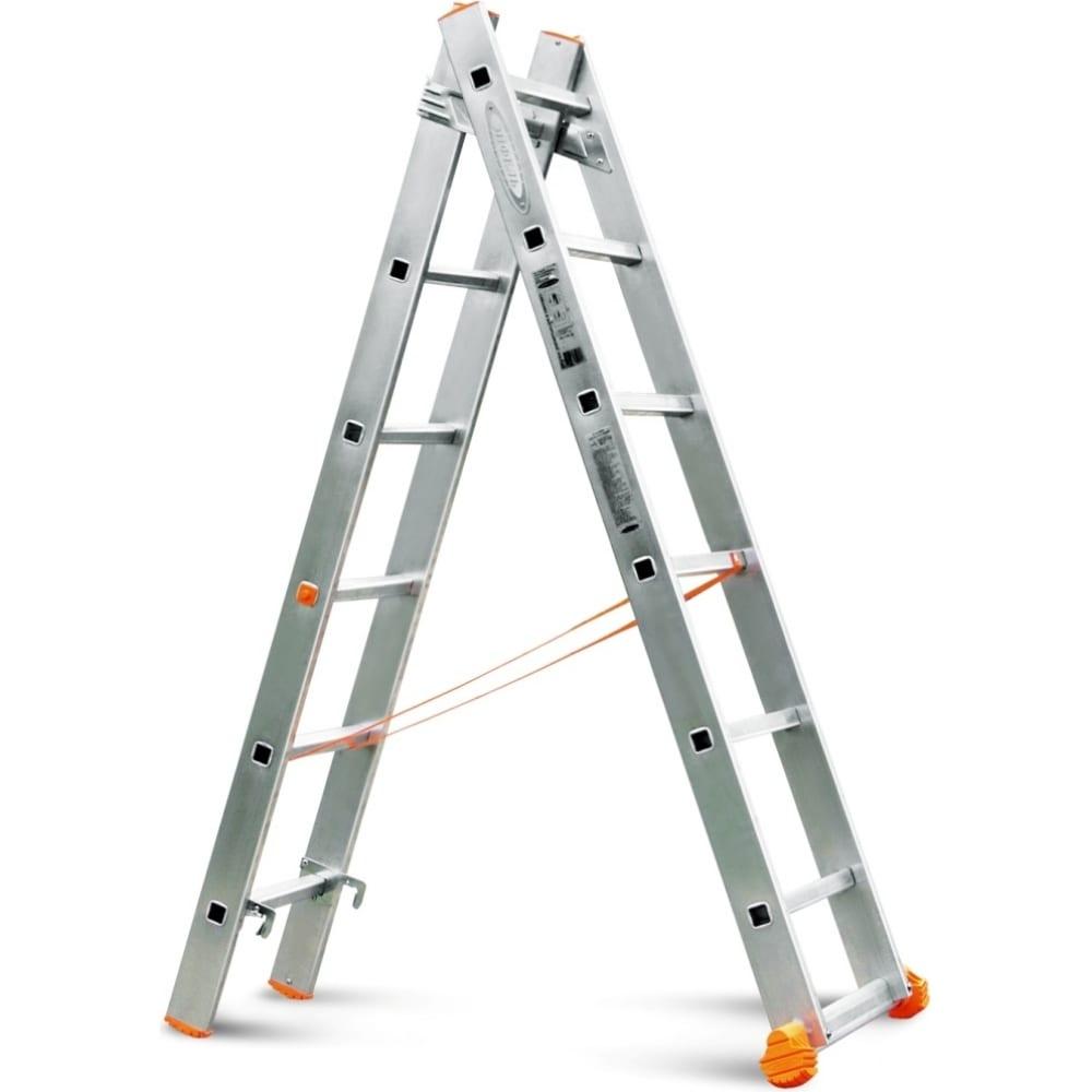 Двухсекционная лестница эйфель классик 2х6