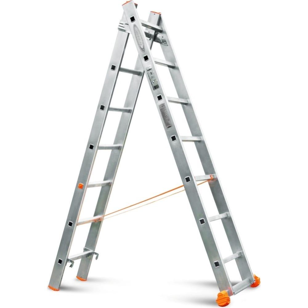 Двухсекционная лестница эйфель классик 2х7