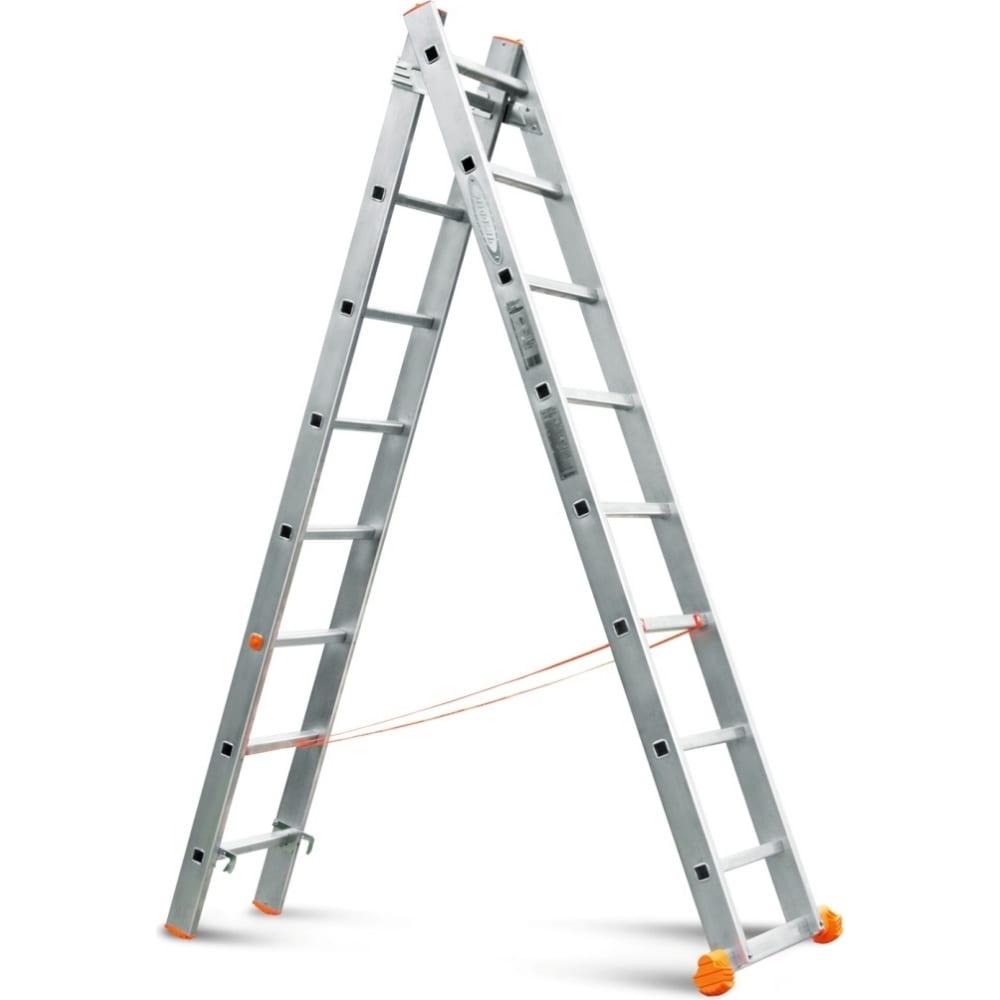Двухсекционная лестница эйфель классик 2х8