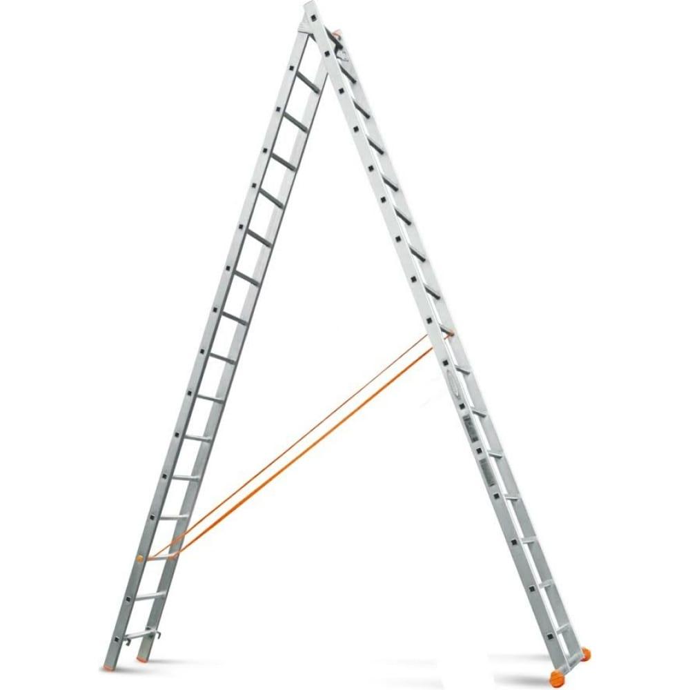 Двухсекционная лестница эйфель классик 2х16
