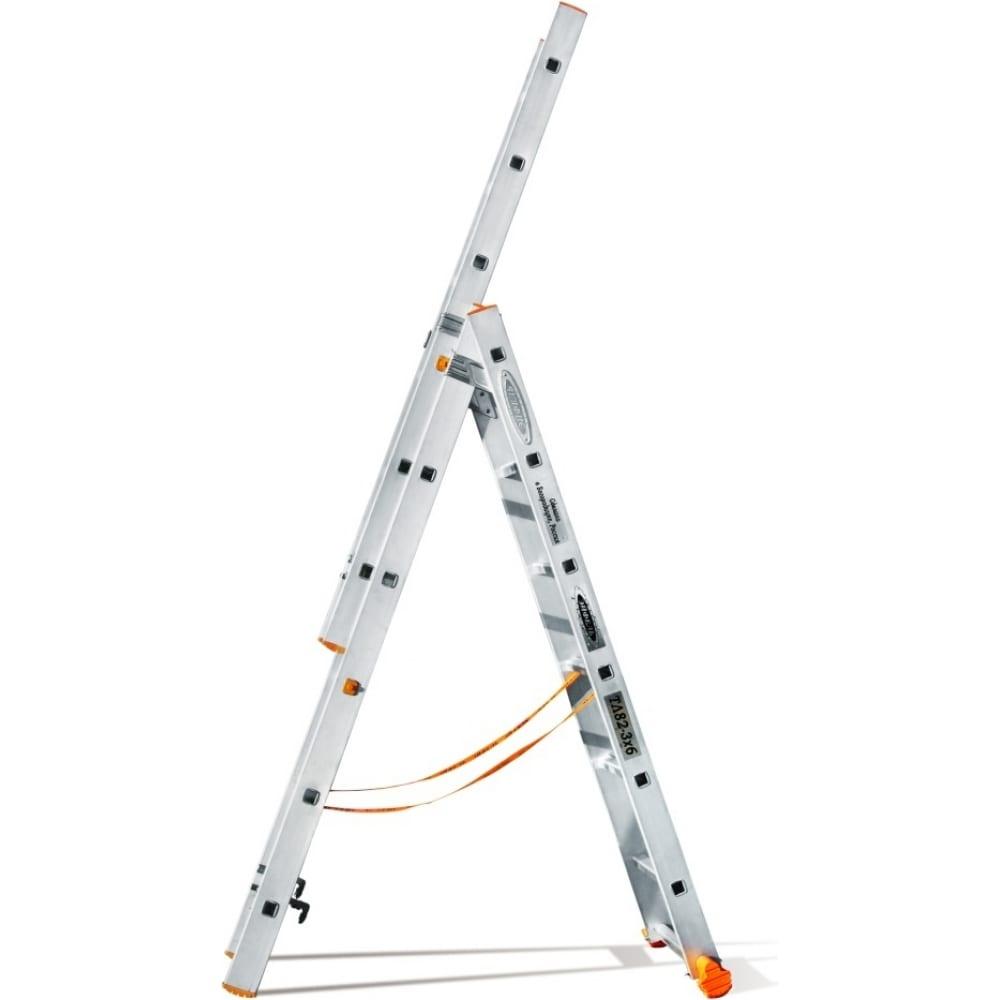 Трехсекционная лестница эйфель классик 3х6