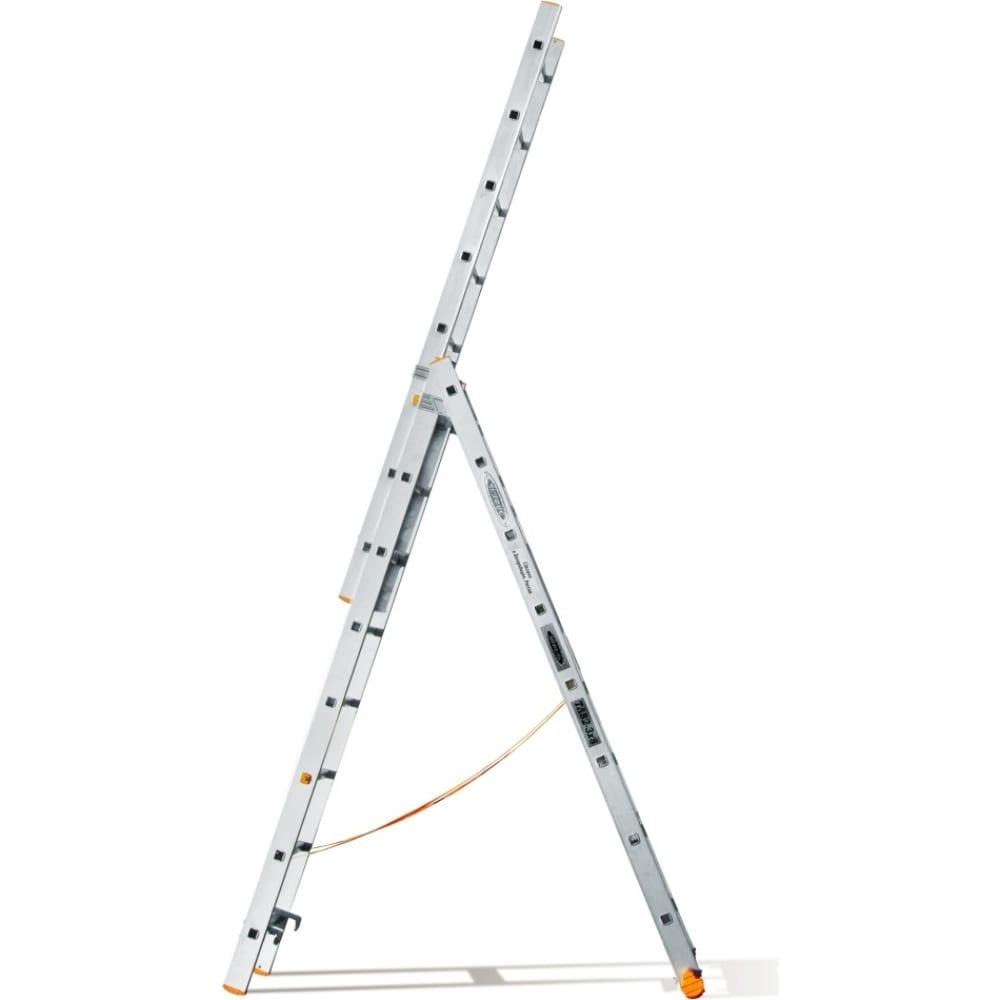 Трехсекционная лестница эйфель классик 3х8