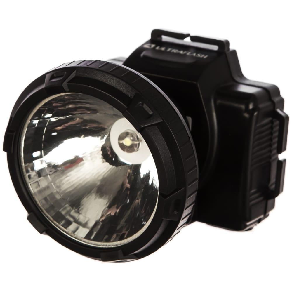 Налобный аккумуляторный фонарь led 5364 ultraflash 11258