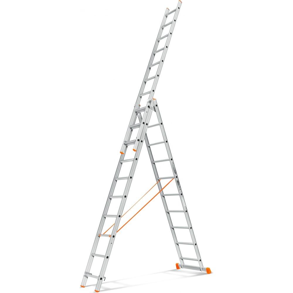 Трехсекционная лестница эйфель гранит 3х10
