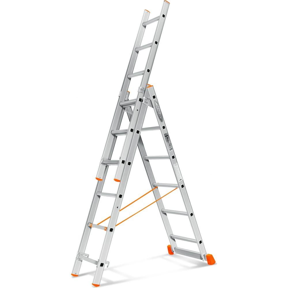 Трехсекционная лестница эйфель гранит 3х6