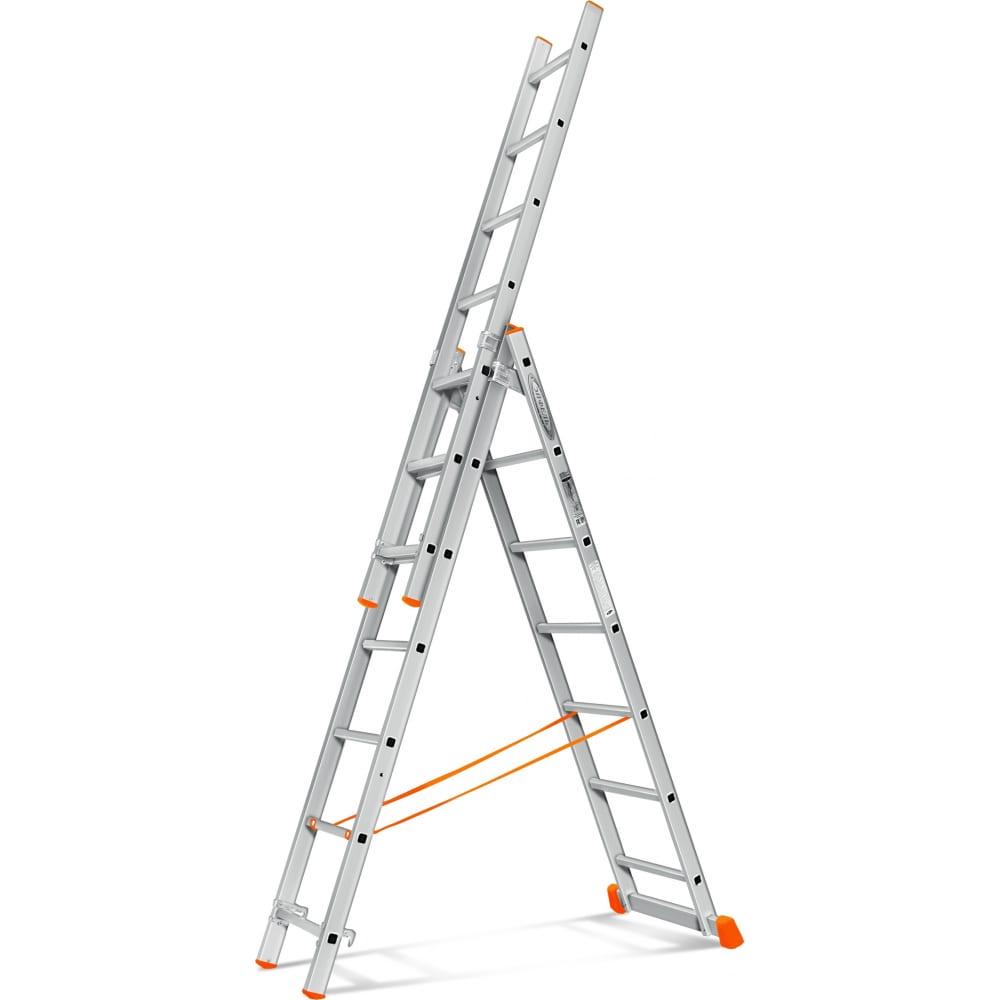 Трехсекционная лестница эйфель гранит 3х7
