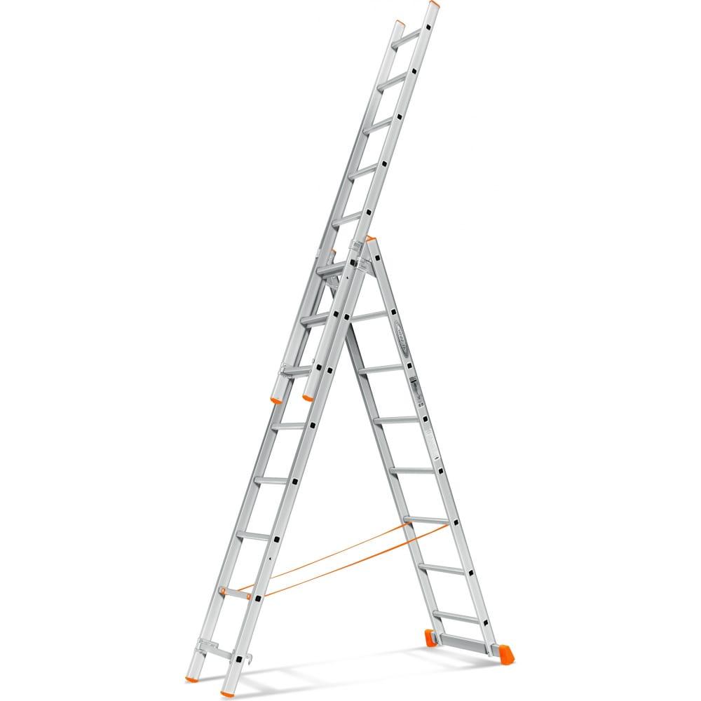 Трехсекционная лестница эйфель гранит 3х8