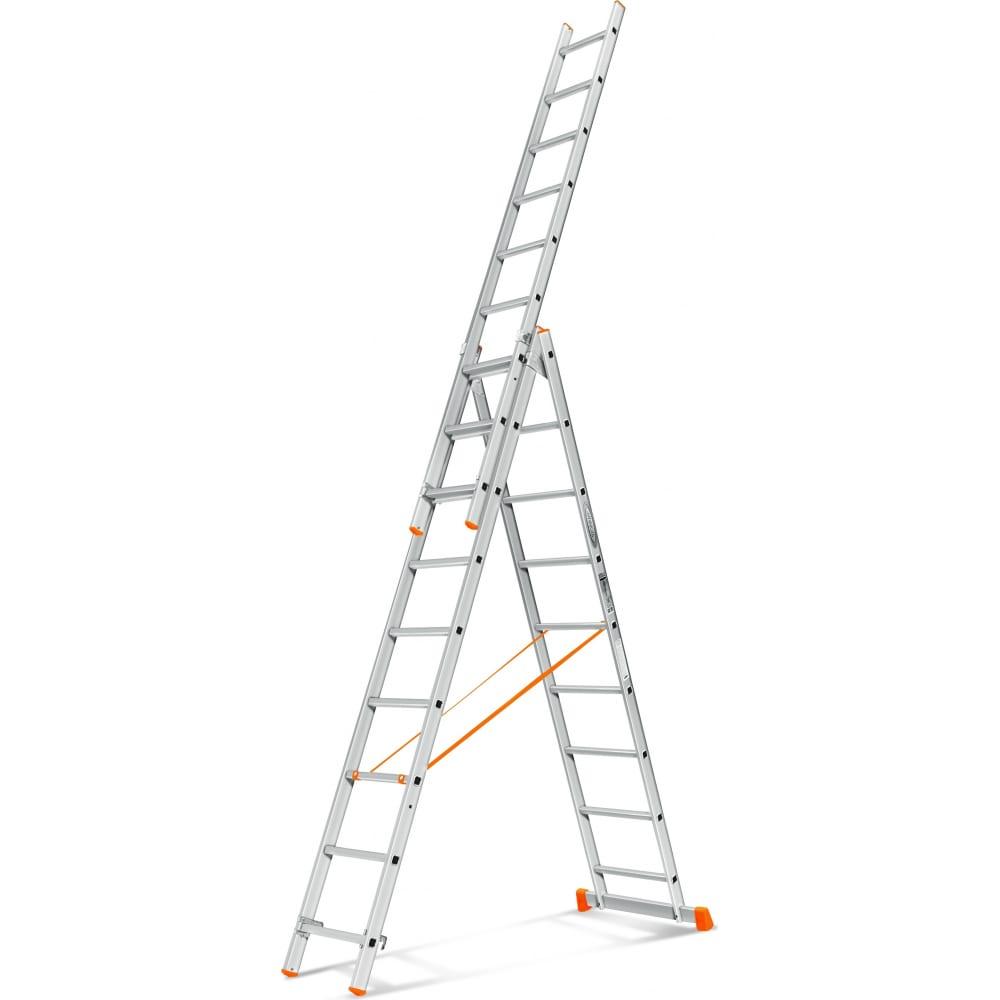 Трехсекционная лестница эйфель гранит 3х9