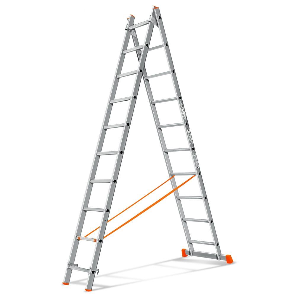 Двухсекционная лестница эйфель гранит 2х10