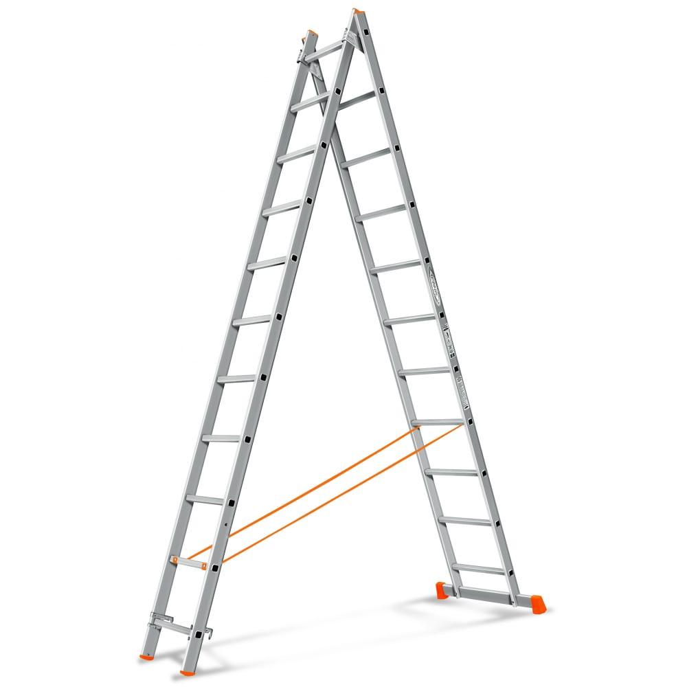 Двухсекционная лестница эйфель гранит 2х11