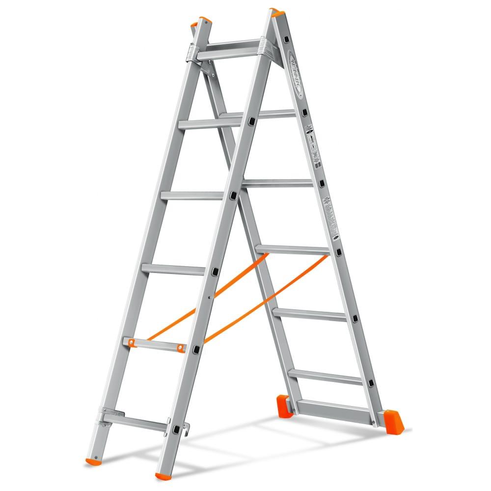 Двухсекционная лестница эйфель гранит 2х6