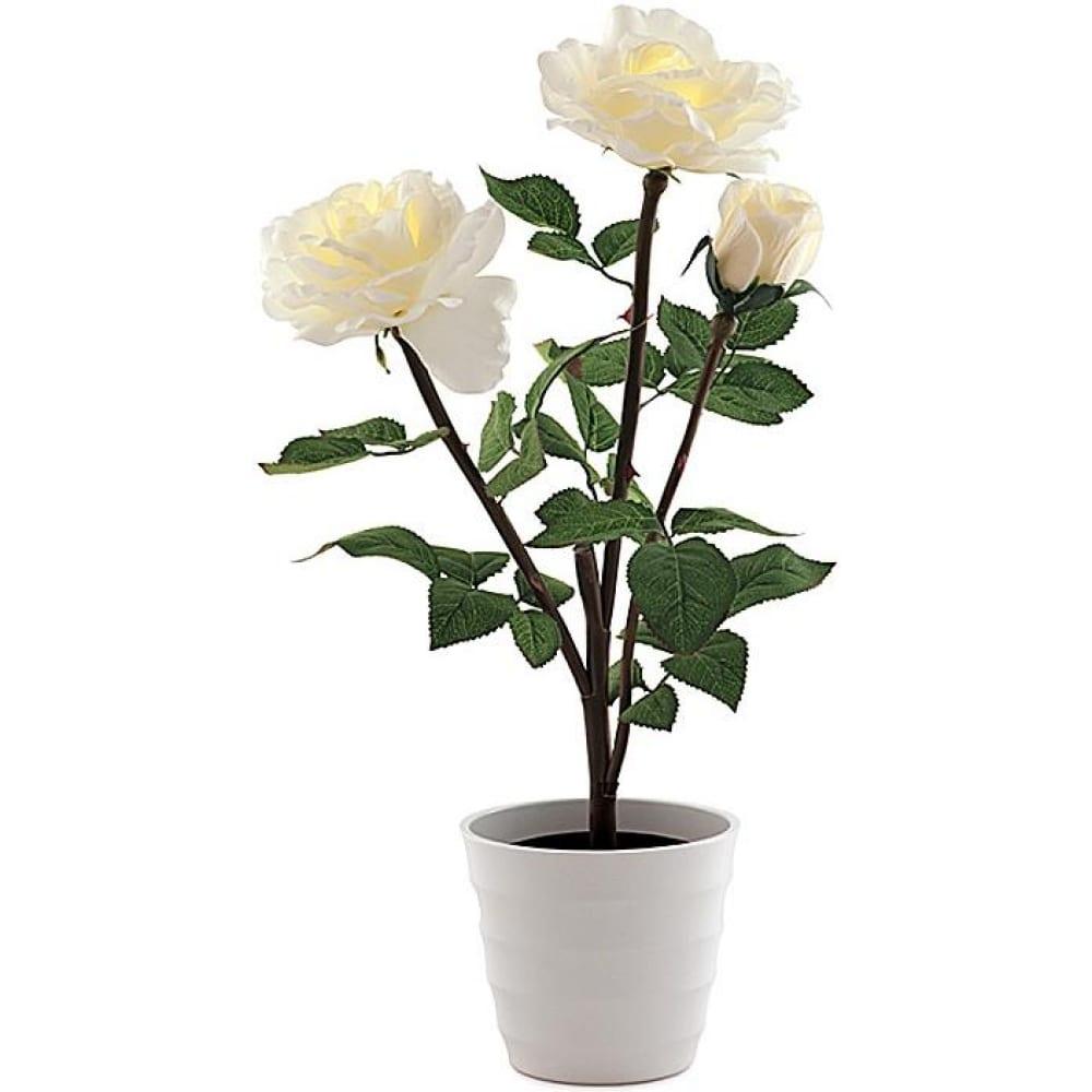 Декоративный светильник белый, роза 3 старт led