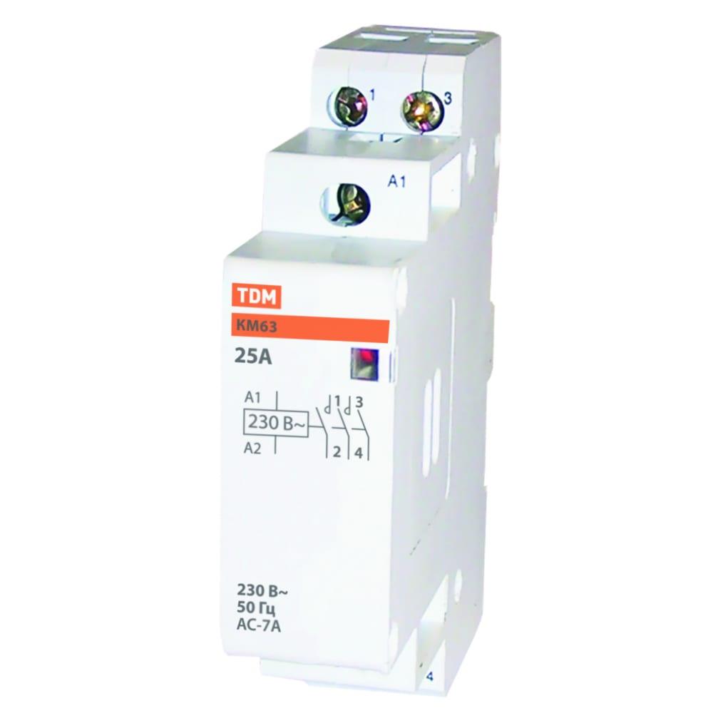 Модульный контактор tdm км63/2-25 sq0213-0002