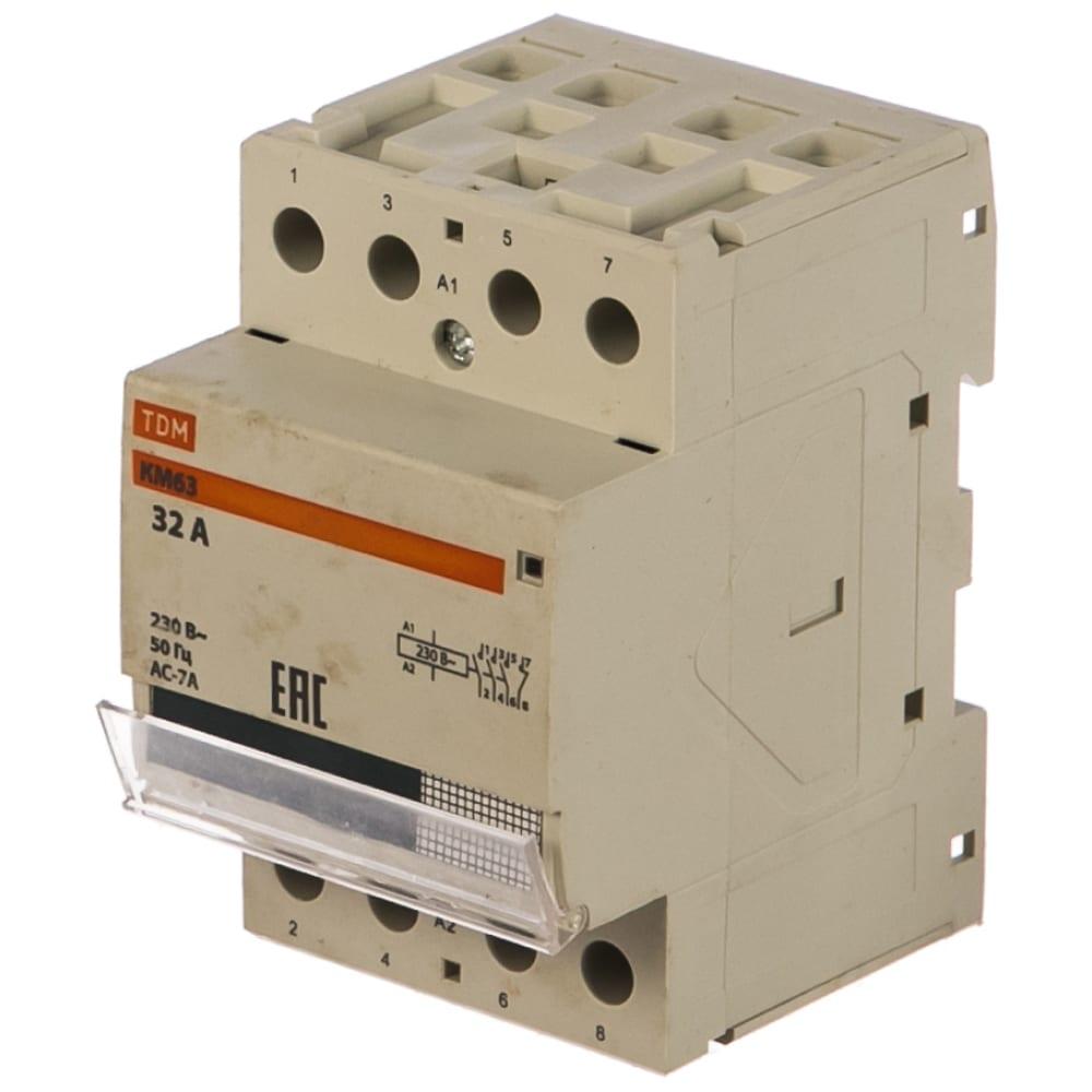 Модульный контактор tdm км63/4-32 sq0213-0018.