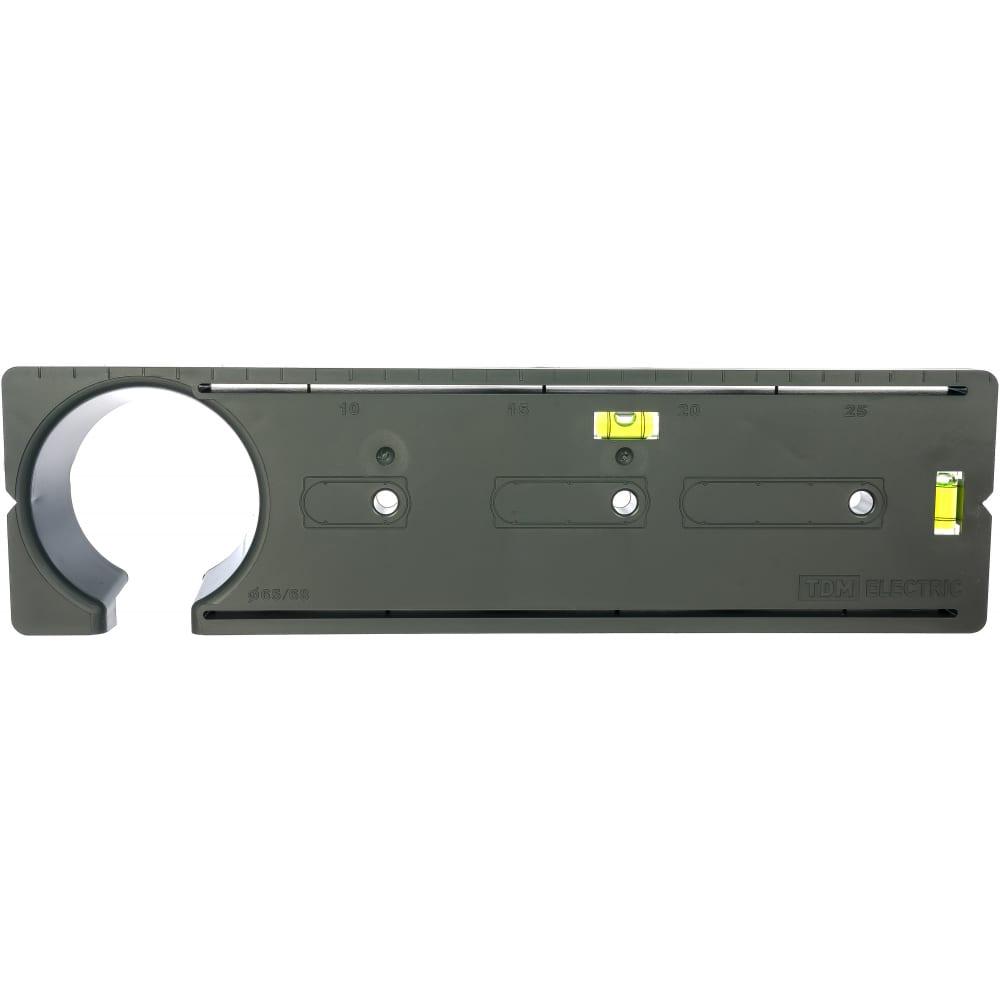 Шаблон для разметки отверстий под монтажные коробки tdm sq1407-0001