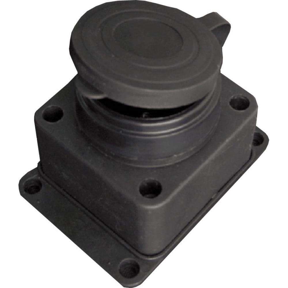 Настенная розетка с заглушкой каучук tdm 2р+ре 16а 250в ip44 sq0612-0003