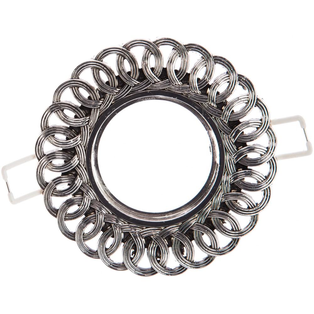 Точечный светильник gauss antique серебро/черный gu5.3 ca042