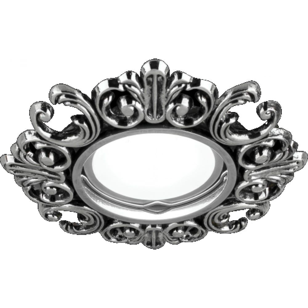 Точечный светильник gauss antique серебро/черный gu5.3 ca045