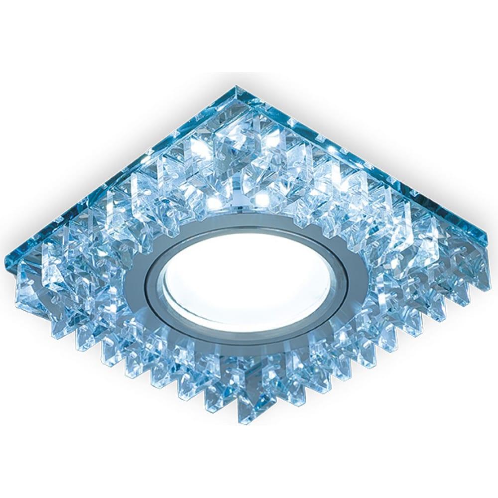 Точечный светильник gauss backlight кристалл/хром gu5.3 led подсветка 4100k bl030