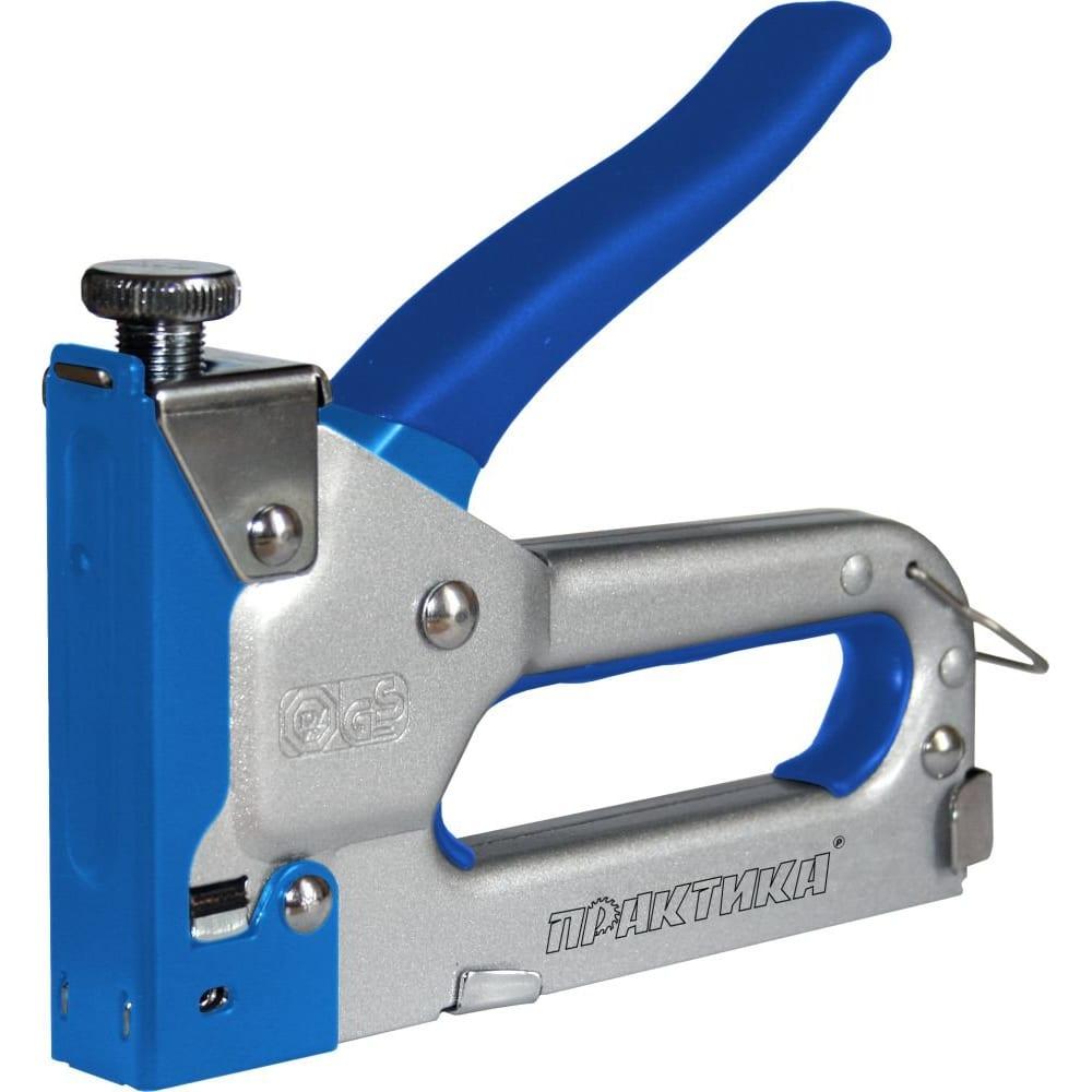 Степлер ручной скобы с регулятором удара (4-14 мм) практика 775-730