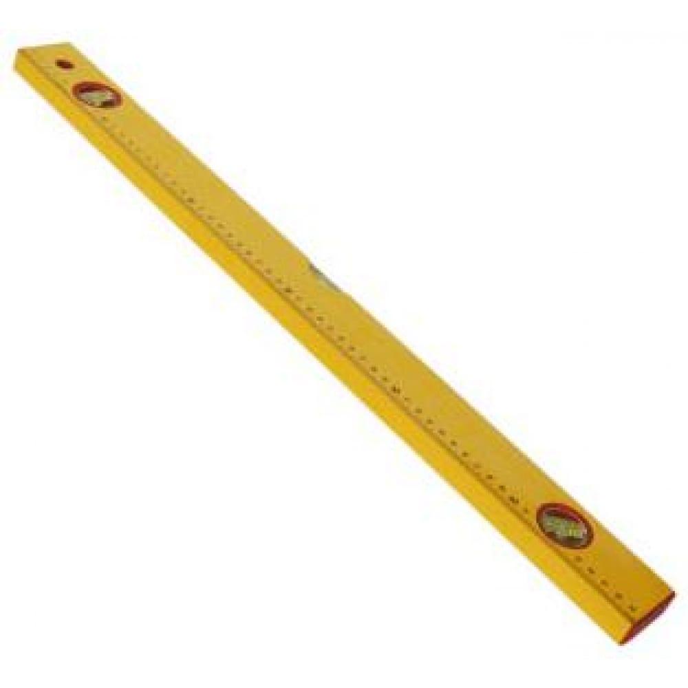 Алюминиевый желтый уровень с линейкой, 3 глазка 600 мм santool 050202-060