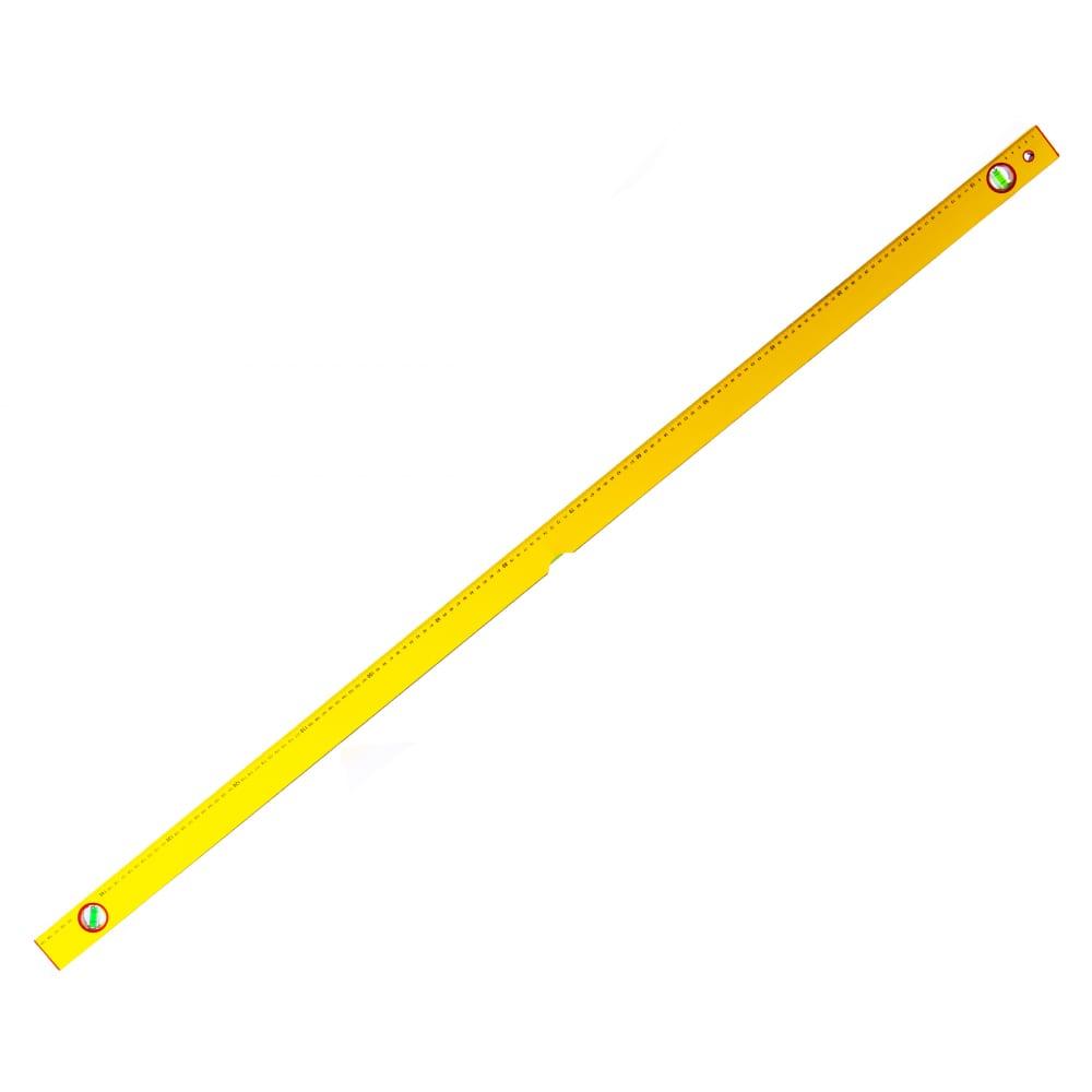 Алюминиевый желтый уровень с линейкой, 3 глазка 1500 мм santool 050202-150