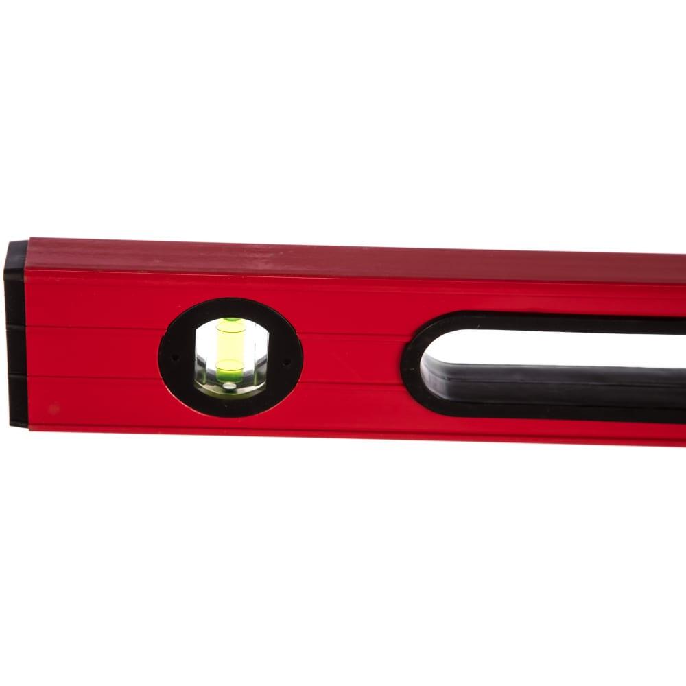 Алюминиевый красный уровень с двумя ручками 3 глазка, 600 мм santool 050205-060