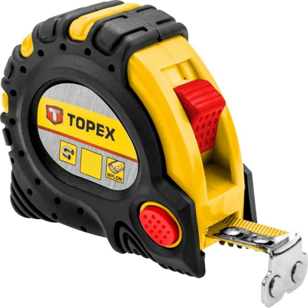 Рулетка topex со стальной лентой и магнитом 3мx19мм 27c343
