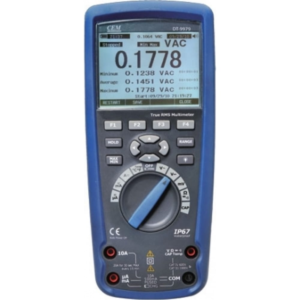Цифровой мультиметр сем true rms dt-9979 481110
