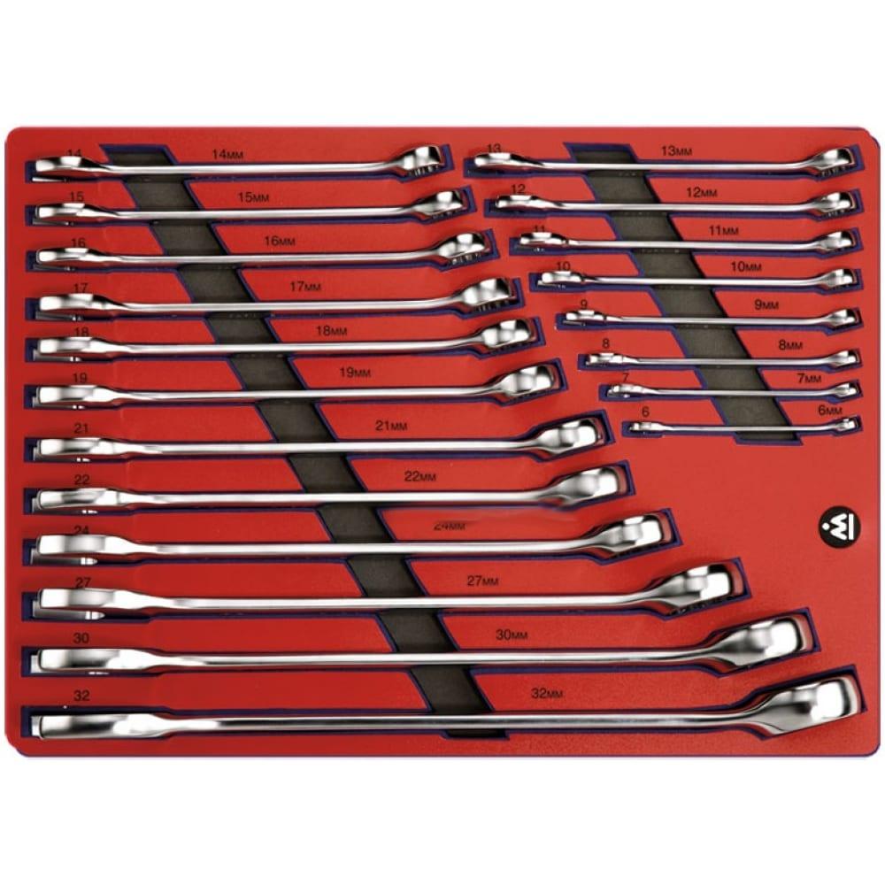 Набор комбинированных ключей 6-32мм, 20шт мастак 5-21120