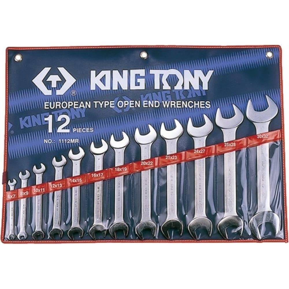Набор рожковых ключей king tony 6-32 мм 12 предметов 1112mr