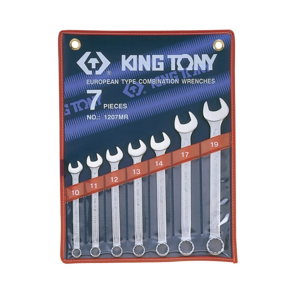 Набор комбинированных ключей king tony 10-19 мм 7 предметов 1207mr
